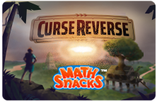 Curse reverse title screen landscape with tree, sunset, and temple