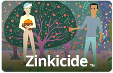 Zinkicide screenshot of animated orange tree