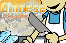 Image of the Chinese Food Safety title slide with the main character.