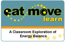 Title slide for the Eat Move Learn application.