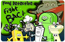 Image displaying the Food Detective: Fight BAC! title slide.